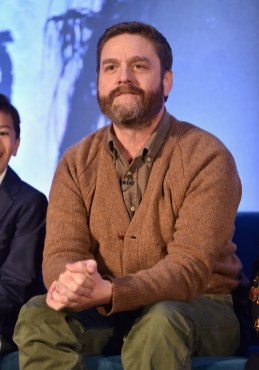 HOLLYWOOD, CA - FEBRUARY 25: Actor Zach Galifianakis participates in the press conference for Disney's 'A Wrinkle in Time' in Hollywood, CA on March 25, 2018 (Photo by Alberto E. Rodriguez/Getty Images for Disney) *** Local Caption *** Zach Galifianakis