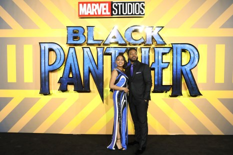 LONDON, UK – FEBRUARY 08: Director Ryan Coogler and Wife Zinzi Evans attend the European Premiere of Marvel Studios' BLACK PANTHER at the Eventim Apollo in London on 8thFebruary 2018