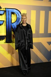 "LONDON, ENGLAND - FEBRUARY 08: Emeli Sandé attend the European Premiere of Marvel Studios' ""Black Panther"" at the Eventim Apollo, Hammersmith on February 8, 2018 in London, England. (Photo by Gareth Cattermole/Getty Images for Disney) *** Local Caption *** Emeli Sandé"