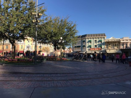 Disneyland Town Square Bricks With Walls Down in Spring-8