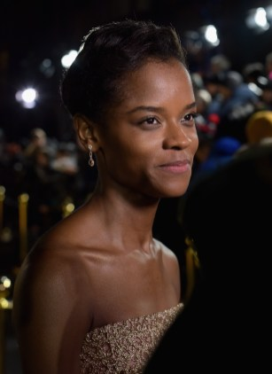 LONDON, UK – FEBRUARY 08: Letitia Wright attends the European Premiere of Marvel Studios' BLACK PANTHER at the Eventim Apollo in London on 8th February 2018