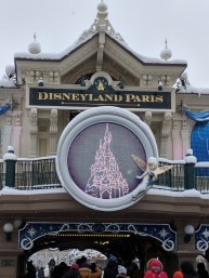 Disneyland Paris in the Snow