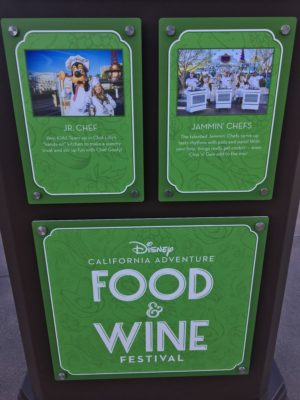2018 Disney California Adventure Food and Wine Festival Sign