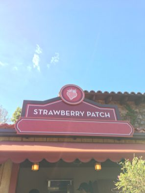 Strawberry Patch Booth - 2018 Disney California Adventure Food and Wine Festival