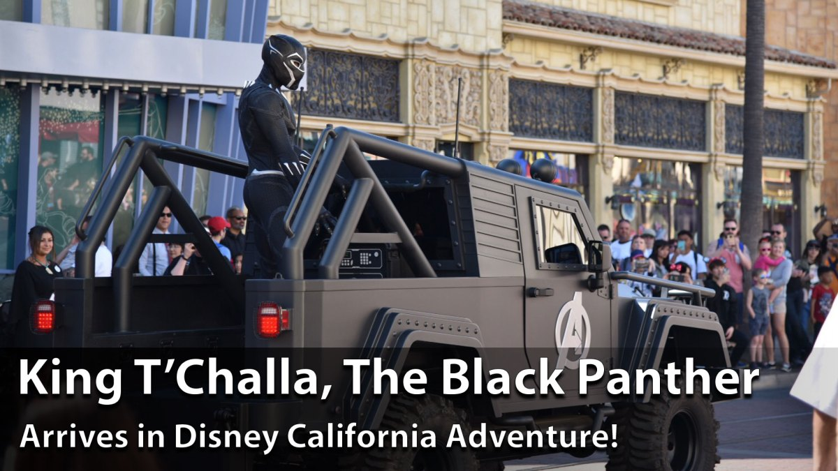 Black Panther King T'Challa Arrives at Disney California Adventure at the Disneyland Resort