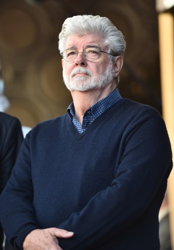 HOLLYWOOD, CA - MARCH 08: George Lucas attends Mark Hamill Star Ceremony on the Hollywood Walk of Fame on March 8, 2018 at Hollywood Walk Of Fame in Hollywood, California. (Photo by Alberto E. Rodriguez/Getty Images for Disney) *** Local Caption *** George Lucas