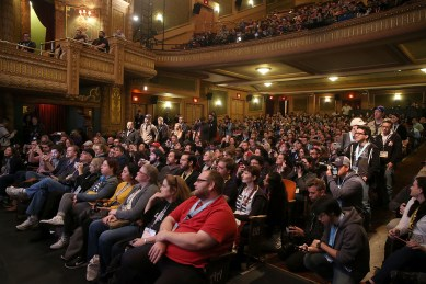 "AUSTIN, TX - MARCH 12: A general view of atmosphere during the Star Wars: The Last Jedi ""The Director and The Jedi"" SXSW Documentary Premiere at Paramount Theatre on March 12, 2018 in Austin, Texas. (Photo by Jesse Grant/Getty Images for Disney)"