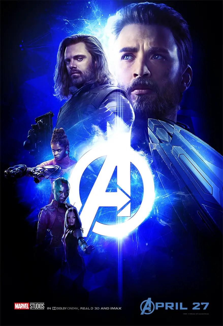 Avengers: Infinity War Captain America Group Poster