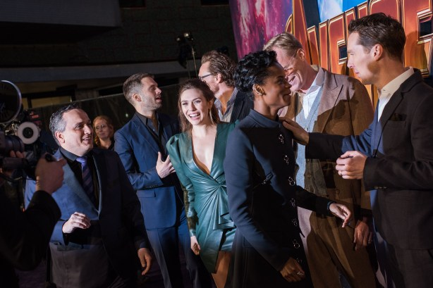 LONDON, ENGLAND - APRIL 08: The Crew attends the UK Fan Event to celebrate the release of Marvel Studios' 'Avengers: Infinity War' at The London Television Centre on April 8, 2018 in London, England. (Photo by Gareth Cattermole/Gareth Cattermole/Getty Images for Disney)