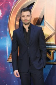 LONDON, ENGLAND - APRIL 08: Sebastian Stan attends the UK Fan Event to celebrate the release of Marvel Studios' 'Avengers: Infinity War' at The London Television Centre on April 8, 2018 in London, England.