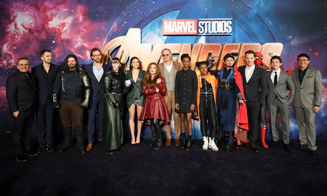LONDON, ENGLAND - APRIL 08: The Cast and Fans attend the UK Fan Event to celebrate the release of Marvel Studios' 'Avengers: Infinity War' at The London Television Centre on April 8, 2018 in London, England.