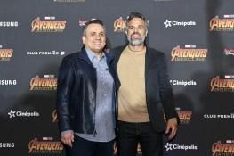 Joe Russo (Director), Mark Ruffalo (Bruce Banner/Hulk) attend the Avengers: Infinity War fan event in Mexico City.