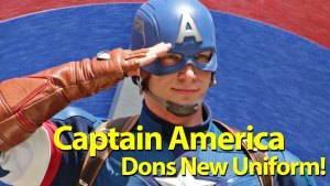 Captain America Dons New Uniform in Disney California Adventure