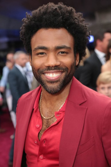 """Donald Glover attends the world premiere of """"Solo: A Star Wars Story"""" in Hollywood on May 10, 2018. (Photo: Alex J. Berliner/ABImages)"""