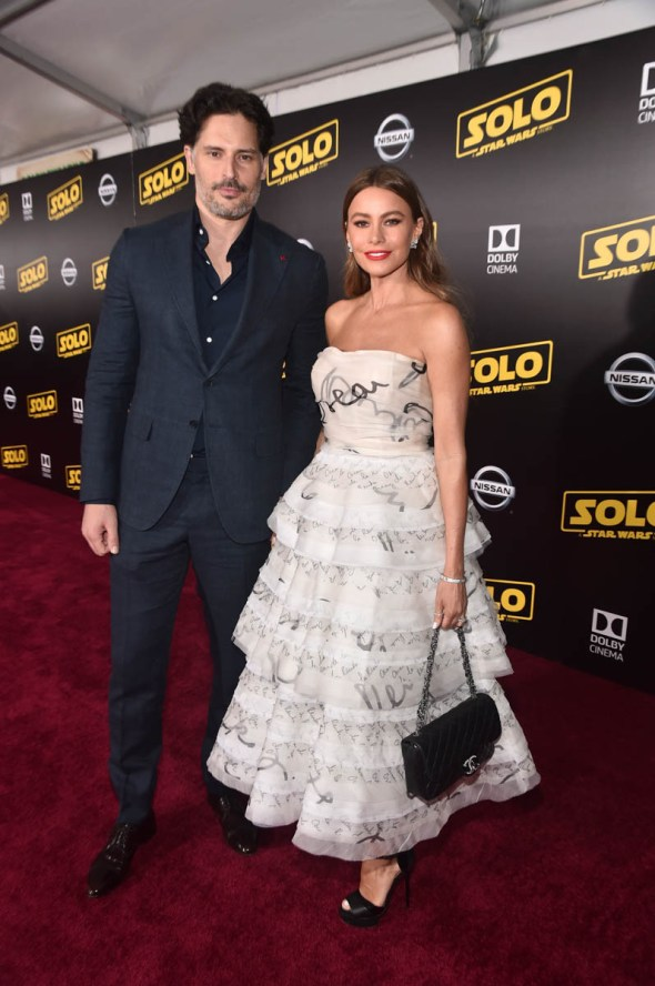 HOLLYWOOD, CA - MAY 10: Actors Joe Manganiello (L) and Sofia Vergara attend the world premiere of ìSolo: A Star Wars Storyî in Hollywood on May 10, 2018. (Photo by Alberto E. Rodriguez/Getty Images for Disney) *** Local Caption *** Joe Manganiello; Sofia Vergara