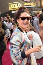 """Sandra Oh attends the world premiere of """"Solo: A Star Wars Story"""" in Hollywood on May 10, 2018. (Photo: Alex J. Berliner/ABImages)"""