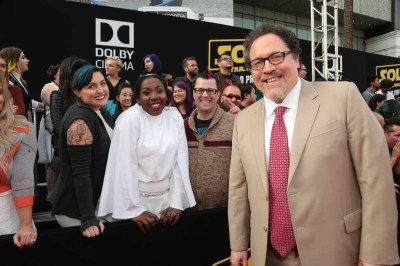 """Jon Favreau attends the world premiere of """"Solo: A Star Wars Story"""" in Hollywood on May 10, 2018. (Photo: Alex J. Berliner/ABImages)"""