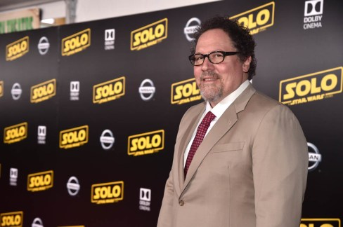 HOLLYWOOD, CA - MAY 10: Actor Jon Favreau attends the world premiere of ìSolo: A Star Wars Storyî in Hollywood on May 10, 2018. (Photo by Alberto E. Rodriguez/Getty Images for Disney) *** Local Caption *** Jon Favreau