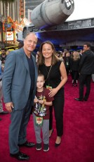 """Woody Harrelson, Ford Harrelson and Jade Harrelson attend the world premiere of """"Solo: A Star Wars Story"""" in Hollywood on May 10, 2018..(Photo: Alex J. Berliner/ABImages)."""