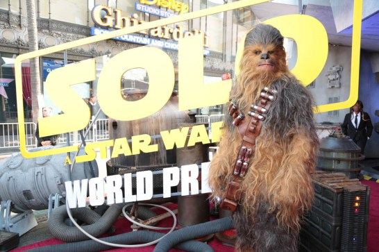 """attend the world premiere of """"Solo: A Star Wars Story"""" in Hollywood on May 10, 2018. (Photo: Alex J. Berliner/ABImages)"""