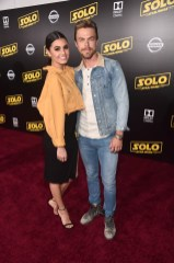HOLLYWOOD, CA - MAY 10: Hayley Erbert (L) and Derek Hough attend the world premiere of ìSolo: A Star Wars Storyî in Hollywood on May 10, 2018. (Photo by Alberto E. Rodriguez/Getty Images for Disney) *** Local Caption *** Derek Hough; Hayley Erbert