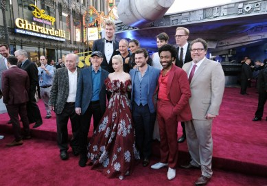 HOLLYWOOD, CA - MAY 10: (From Top L-R) Actors Joonas Suotamo, Woody Harrelson, Thandie Newton, Phoebe Waller-Bridge, and Paul Bettany, (Bottom L-R) Actor Clint Howard, Director Ron Howard, and actors Emilia Clarke, Alden Ehrenreich, Donald Glover, and Jon Favreau attend the world premiere of ìSolo: A Star Wars Storyî in Hollywood on May 10, 2018. (Photo by Alberto E. Rodriguez/Getty Images for Disney) *** Local Caption *** Joonas Suotamo; Clint Howard; Woody Harrelson; Thandie Newton; Phoebe Waller-Bridge; Paul Bettany; Ron Howard; Emilia Clarke; Alden Ehrenreich; Jon Favreau; Donald Glover