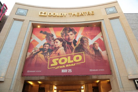 "A view of the Dolby Theater during the world premiere of ""Solo: A Star Wars Story"" in Hollywood on May 10, 2018. (Photo: Alex J. Berliner/ABImages)"