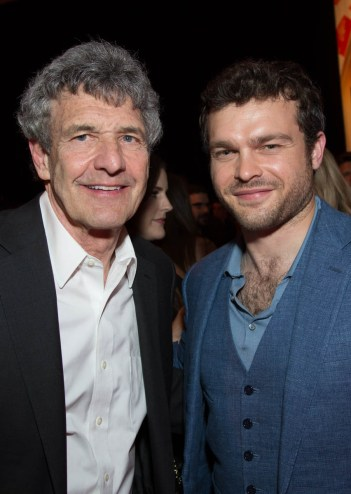 """Bob Iger, Alden Ehrenreich pose together at the after party during the world premiere of """"Solo: A Star Wars Story"""" in Hollywood on May 10, 2018..(Photo: Alex J. Berliner/ABImages)."""