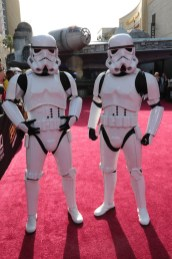"Stormtroopers attend the world premiere of ""Solo: A Star Wars Story"" in Hollywood on May 10, 2018. (Photo: Alex J. Berliner/ABImages)"