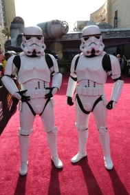 """Stormtroopers attend the world premiere of """"Solo: A Star Wars Story"""" in Hollywood on May 10, 2018. (Photo: Alex J. Berliner/ABImages)"""