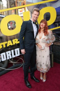 """Joonas Suotamo and Milla Suotamo attend the world premiere of """"Solo: A Star Wars Story"""" in Hollywood on May 10, 2018. (Photo: Alex J. Berliner/ABImages)"""