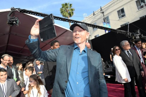 HOLLYWOOD, CA - MAY 10: Director Ron Howard attends the world premiere of ìSolo: A Star Wars Storyî in Hollywood on May 10, 2018. (Photo by Charley Gallay/Getty Images for Disney) *** Local Caption *** Ron Howard
