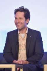 """LOS ANGELES, CA - JUNE 24: Paul Rudd speaks onstage at Marvel Studios' """"Ant-Man And The Wasp"""" Global Junket Press Conference on June 24, 2018 in Los Angeles, United States. (Photo by Alberto E. Rodriguez/Getty Images for Disney) *** Local Caption *** Paul Rudd"""