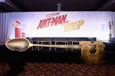 """LOS ANGELES, CA - JUNE 24: A general view of atmosphere at Marvel Studios' """"Ant-Man And The Wasp"""" Global Junket Press Conference on June 24, 2018 in Los Angeles, United States. (Photo by Alberto E. Rodriguez/Getty Images for Disney)"""