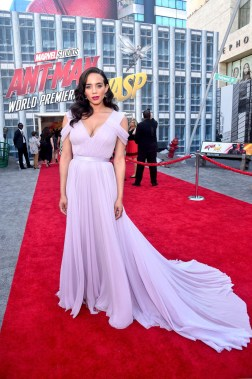 """HOLLYWOOD, CA - JUNE 25: Actor Hannah John-Kamen attends the Los Angeles Global Premiere for Marvel Studios' """"Ant-Man And The Wasp"""" at the El Capitan Theatre on June 25, 2018 in Hollywood, California. (Photo by Alberto E. Rodriguez/Getty Images for Disney) *** Local Caption *** Hannah John-Kamen"""
