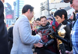 """HOLLYWOOD, CA - JUNE 25: Actor Paul Rudd attends the Los Angeles Global Premiere for Marvel Studios' """"Ant-Man And The Wasp"""" at the El Capitan Theatre on June 25, 2018 in Hollywood, California. (Photo by Charley Gallay/Getty Images for Disney) *** Local Caption *** Paul Rudd"""