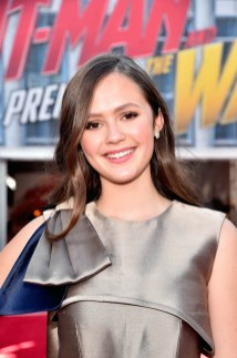 "HOLLYWOOD, CA - JUNE 25: Olivia Sanabia attends the Los Angeles Global Premiere for Marvel Studios' ""Ant-Man And The Wasp"" at the El Capitan Theatre on June 25, 2018 in Hollywood, California. (Photo by Alberto E. Rodriguez/Getty Images for Disney) *** Local Caption *** Olivia Sanabia"