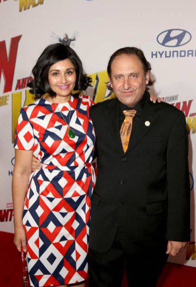 """HOLLYWOOD, CA - JUNE 25: Gregg Turkington (R) and Simone Turkington attend the Los Angeles Global Premiere for Marvel Studios' """"Ant-Man And The Wasp"""" at the El Capitan Theatre on June 25, 2018 in Hollywood, California. (Photo by Jesse Grant/Getty Images for Disney) *** Local Caption *** Simone Turkington; Gregg Turkington"""
