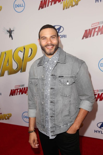 """HOLLYWOOD, CA - JUNE 25: Ian Verdun attends the Los Angeles Global Premiere for Marvel Studios' """"Ant-Man And The Wasp"""" at the El Capitan Theatre on June 25, 2018 in Hollywood, California. (Photo by Jesse Grant/Getty Images for Disney) *** Local Caption *** Ian Verdun"""