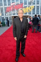 """HOLLYWOOD, CA - JUNE 25: Actor Michael Douglas attends the Los Angeles Global Premiere for Marvel Studios' """"Ant-Man And The Wasp"""" at the El Capitan Theatre on June 25, 2018 in Hollywood, California. (Photo by Alberto E. Rodriguez/Getty Images for Disney) *** Local Caption *** Michael Douglas"""