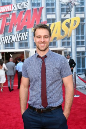"""HOLLYWOOD, CA - JUNE 25: Sean Kleier attends the Los Angeles Global Premiere for Marvel Studios' """"Ant-Man And The Wasp"""" at the El Capitan Theatre on June 25, 2018 in Hollywood, California. (Photo by Alberto E. Rodriguez/Getty Images for Disney) *** Local Caption *** Sean Kleier"""