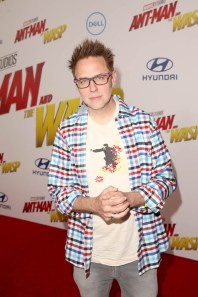 "HOLLYWOOD, CA - JUNE 25: James Gunn attends the Los Angeles Global Premiere for Marvel Studios' ""Ant-Man And The Wasp"" at the El Capitan Theatre on June 25, 2018 in Hollywood, California. (Photo by Jesse Grant/Getty Images for Disney) *** Local Caption *** James Gunn"
