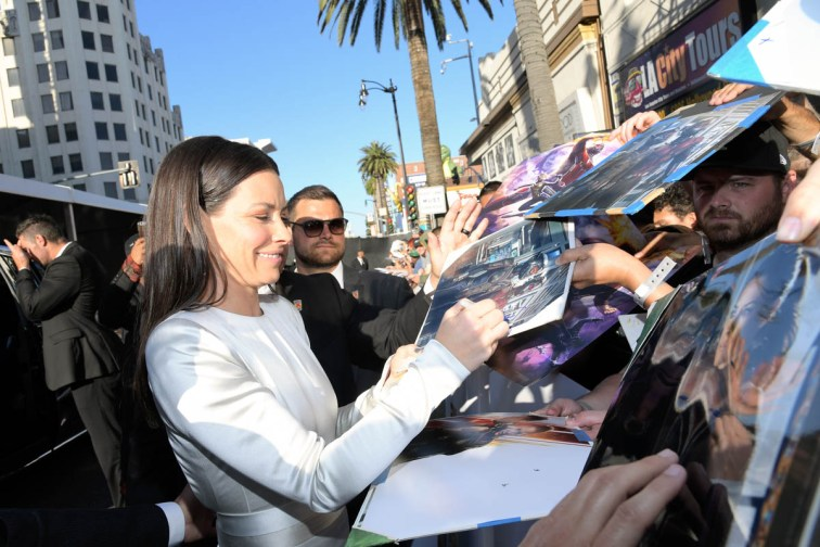 "HOLLYWOOD, CA - JUNE 25: Actor Evangeline Lilly attends the Los Angeles Global Premiere for Marvel Studios' ""Ant-Man And The Wasp"" at the El Capitan Theatre on June 25, 2018 in Hollywood, California. (Photo by Charley Gallay/Getty Images for Disney) *** Local Caption *** Evangeline Lilly"