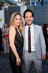 """HOLLYWOOD, CA - JUNE 25: Actors Michelle Pfeiffer (L) and Paul Rudd attend the Los Angeles Global Premiere for Marvel Studios' """"Ant-Man And The Wasp"""" at the El Capitan Theatre on June 25, 2018 in Hollywood, California. (Photo by Alberto E. Rodriguez/Getty Images for Disney) *** Local Caption *** Michelle Pfeiffer; Paul Rudd"""