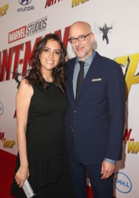 """HOLLYWOOD, CA - JUNE 25: Director Peyton Reed (R) and guest attend the Los Angeles Global Premiere for Marvel Studios' """"Ant-Man And The Wasp"""" at the El Capitan Theatre on June 25, 2018 in Hollywood, California. (Photo by Jesse Grant/Getty Images for Disney) *** Local Caption *** Peyton Reed"""