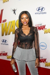 "HOLLYWOOD, CA - JUNE 25: Gabrielle Dennis attends the Los Angeles Global Premiere for Marvel Studios' ""Ant-Man And The Wasp"" at the El Capitan Theatre on June 25, 2018 in Hollywood, California. (Photo by Jesse Grant/Getty Images for Disney) *** Local Caption *** Gabrielle Dennis"