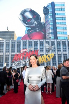"""HOLLYWOOD, CA - JUNE 25: Actor Evangeline Lilly attends the Los Angeles Global Premiere for Marvel Studios' """"Ant-Man And The Wasp"""" at the El Capitan Theatre on June 25, 2018 in Hollywood, California. (Photo by Alberto E. Rodriguez/Getty Images for Disney) *** Local Caption *** Evangeline Lilly"""