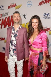 """HOLLYWOOD, CA - JUNE 25: Sean Gunn (L) and Natasha Halevi attend the Los Angeles Global Premiere for Marvel Studios' """"Ant-Man And The Wasp"""" at the El Capitan Theatre on June 25, 2018 in Hollywood, California. (Photo by Jesse Grant/Getty Images for Disney) *** Local Caption *** Natasha Halevi; Sean Gunn"""