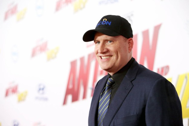 """HOLLYWOOD, CA - JUNE 25: Producer Kevin Feige attends the Los Angeles Global Premiere for Marvel Studios' """"Ant-Man And The Wasp"""" at the El Capitan Theatre on June 25, 2018 in Hollywood, California. (Photo by Jesse Grant/Getty Images for Disney) *** Local Caption *** Kevin Feige"""
