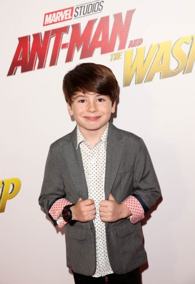 """HOLLYWOOD, CA - JUNE 25: Paxton Booth attends the Los Angeles Global Premiere for Marvel Studios' """"Ant-Man And The Wasp"""" at the El Capitan Theatre on June 25, 2018 in Hollywood, California. (Photo by Jesse Grant/Getty Images for Disney) *** Local Caption *** Paxton Booth"""